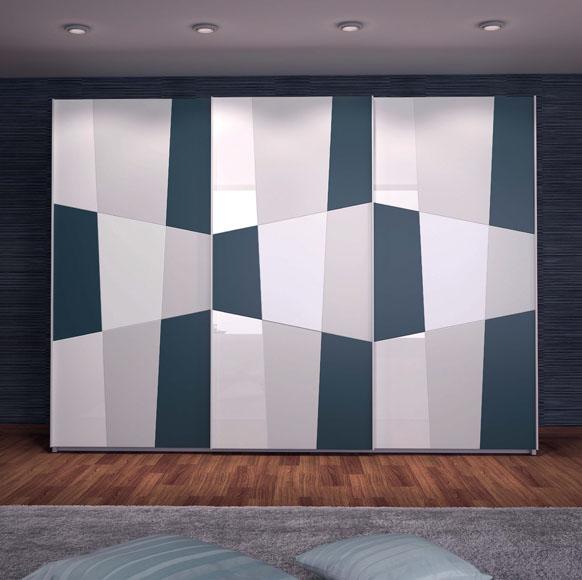 Original armario con distintas formas geométricas