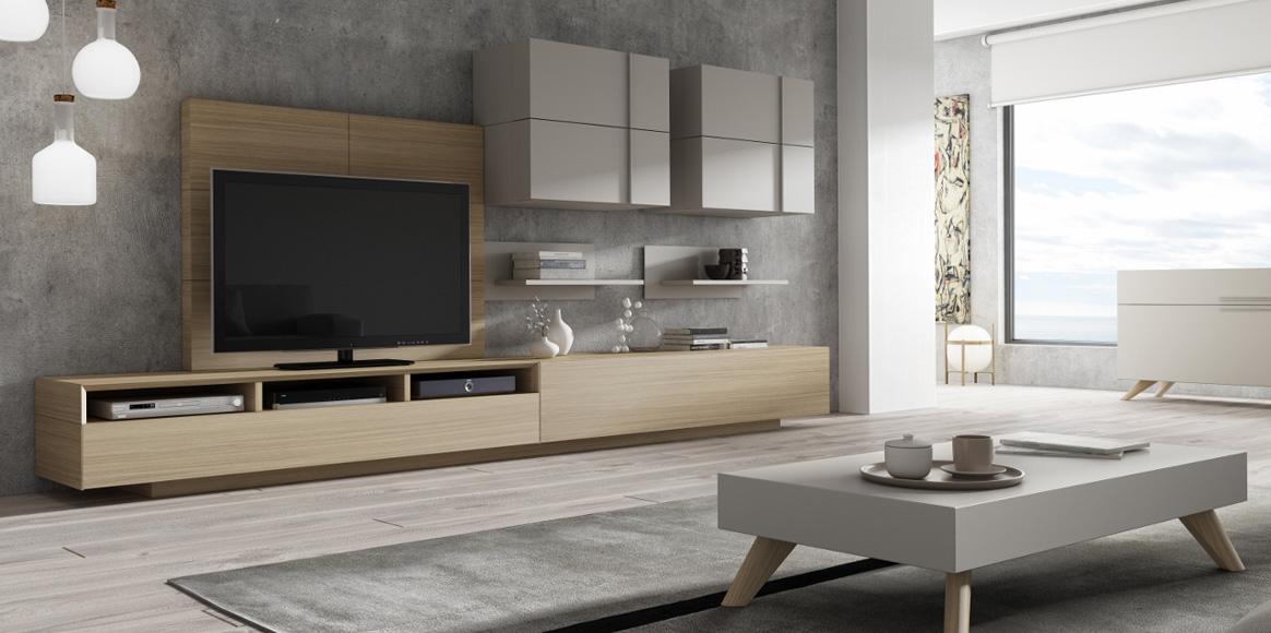Sistema con gran variedad de acabados y posibilidad de adaptarse a cualquier espacio con intervalos de 25 cm.