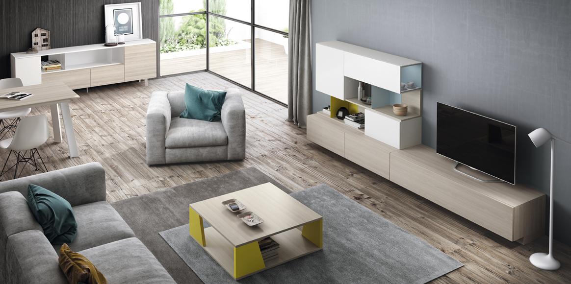 Mueble con aire vintage de gran modularidad y diferentes acabados