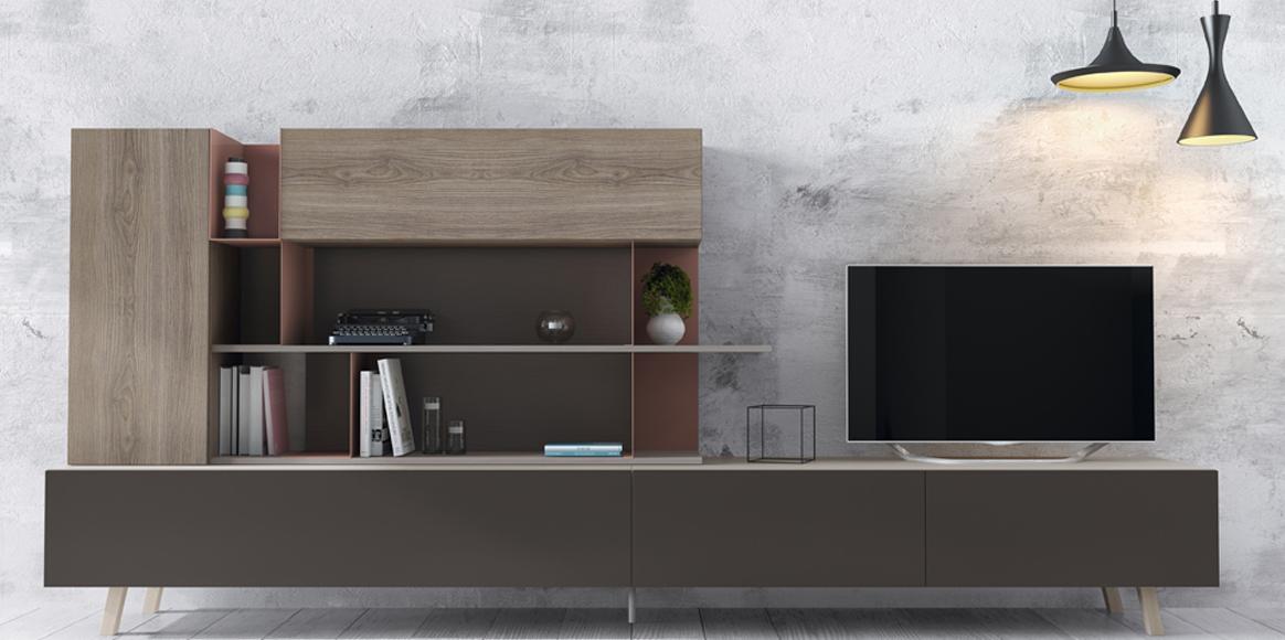 Mueble modular que combina zócalos,patas etc para personalizarlo a tu gusto