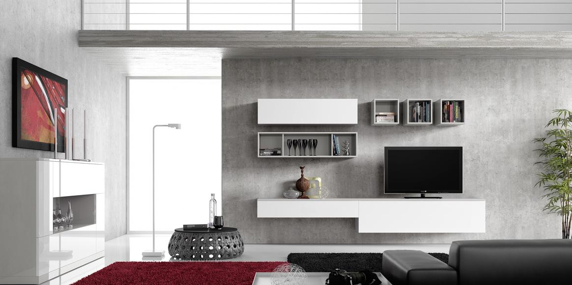Mueble moderno lacado y con chapa natural