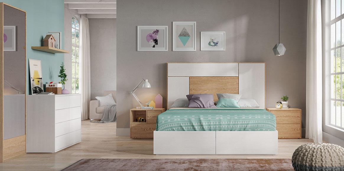 Dormitorio con posibilidad, al igual que los demás, de incorporar canapé abatible. Diferentes acabados