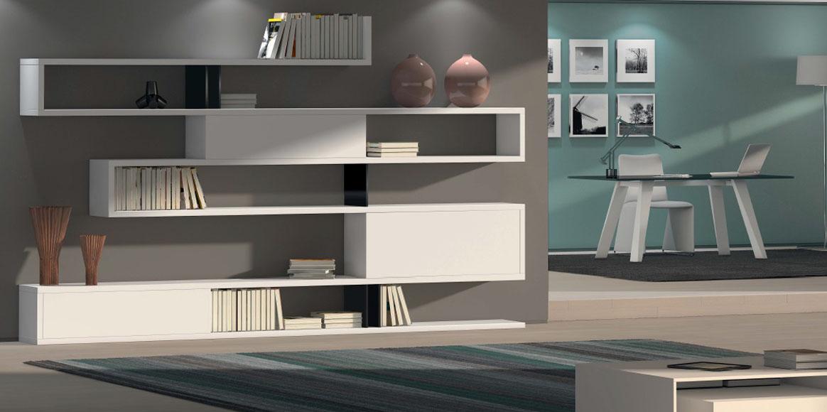 Mueble librería en diferentes acabados que se adapta a cualquier estancia de la casa