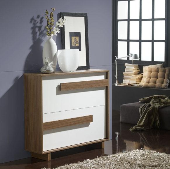 Este zapatero tiene una altura que permite hacer la función de consola, pudiendo dejar objetos de decoración y personales